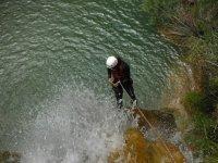 山沟蒙塔内霍斯在山沟峡谷速降瓦伦西亚