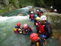 climbing the river