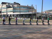 Forming a line in a Segway
