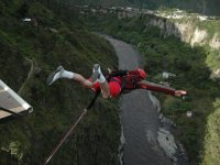 Bungee jumping over the river
