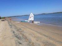 Velero en la playa de Lepe