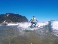 Surfeando en Guipuzcoa