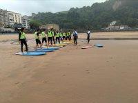 Clases practicas en la playa