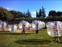 Sant Celoni中的泡泡足球游戏