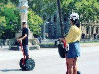 Segway trips through the city