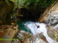 Water slide in the ravine