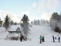 将斜坡滑雪场滑雪