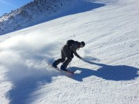 享受练习雪