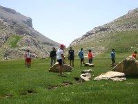 En el campamento de los Pirineos