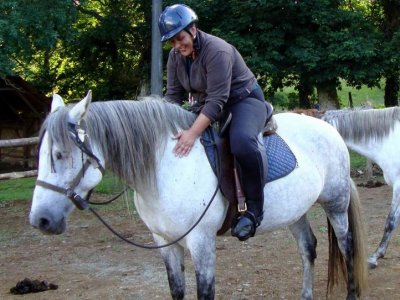 Horse riding class natural dressage, Grañas, 1h