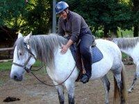 Clase de equitación en Grañas