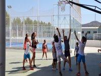 Basketball match between the kids