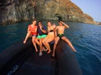 Paseo en barco en el sur de Tenerife