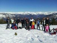Gruppo preparato per lo sci