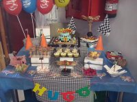Table prepared for the birthday