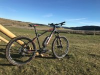 Mountain bike in the Gudar mountain range