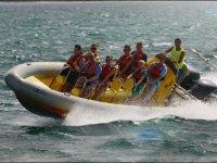 Speedboat en Alcudia acelerando