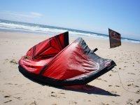 El material en la playa