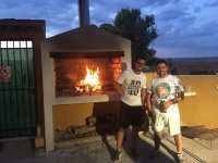Friends of barbecue in Villarubia