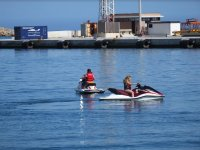 Driving jet skis in Valencia