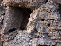 Cuevas en la roca volcanica