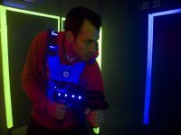 Laser tag player sul vagabondo