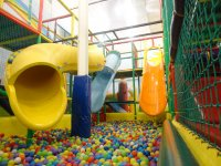 Large pipes and ball pool