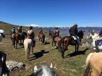 Seeing the snow on horseback