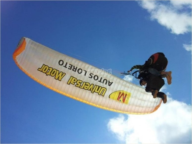 Paragliding over Dos Hermanas
