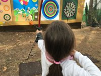 Testing our skills with an archery session