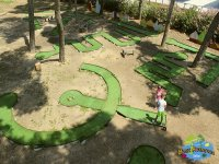 Relaxing with a game of miniature golf