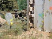 Posicion oculta en el campo de paintball