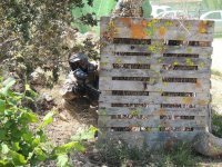 彩弹射击场的木材保护
