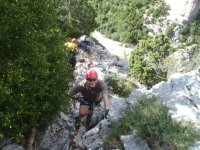 climbing to the top of guara