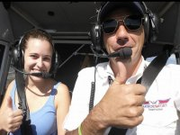 In the air with professional pilot