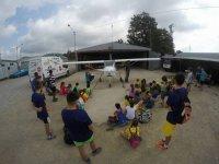 School visit to the aerodrome