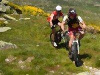 在阿斯图里亚斯的山地自行车路线