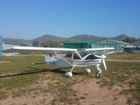 Airplane at the airfield