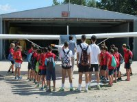 School visit to the airfield