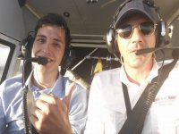 Flying with the instructor