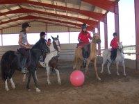 Juegos con los caballos y la pelota