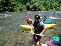 terminando la ruta canoas