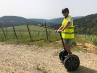 En segway por los cultivos gallegos