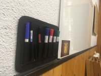 Markers and blackboard
