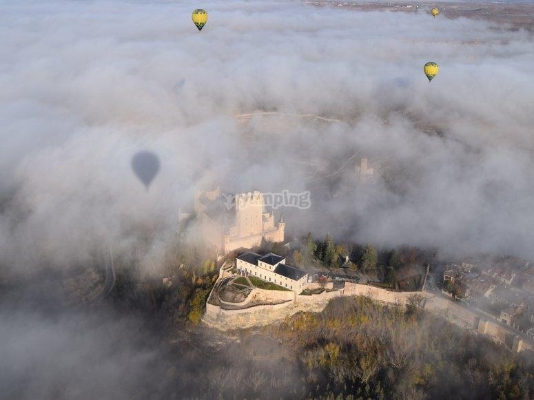 气球房屋的视图