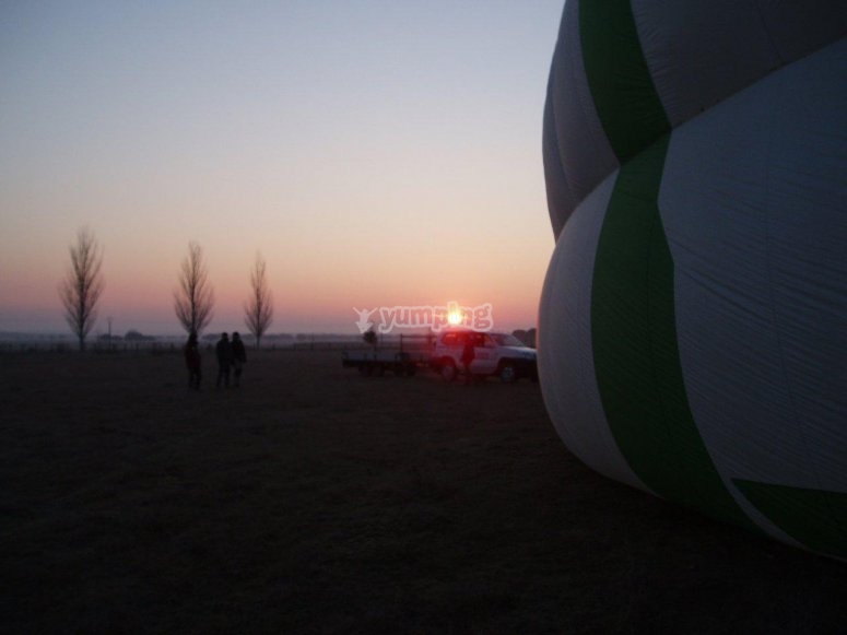 Sunrise with the balloon