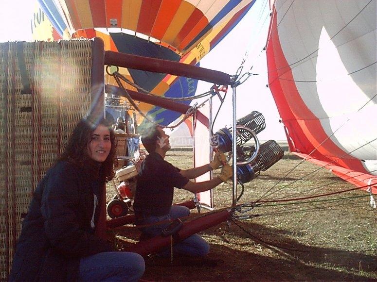 Couple´s balloon flight