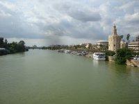 Barcos junto a la Torre del Oro