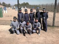 Members of the paintball team