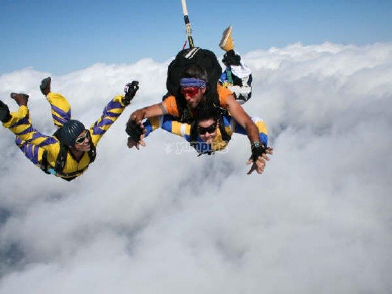 Salto en tándem de paracaidas